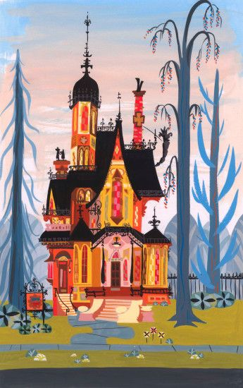 So love this show, the design (especially the house and the backgrounds)  are fantastic. Fosters Home for Imaginary Friends concept art by Carol  Design