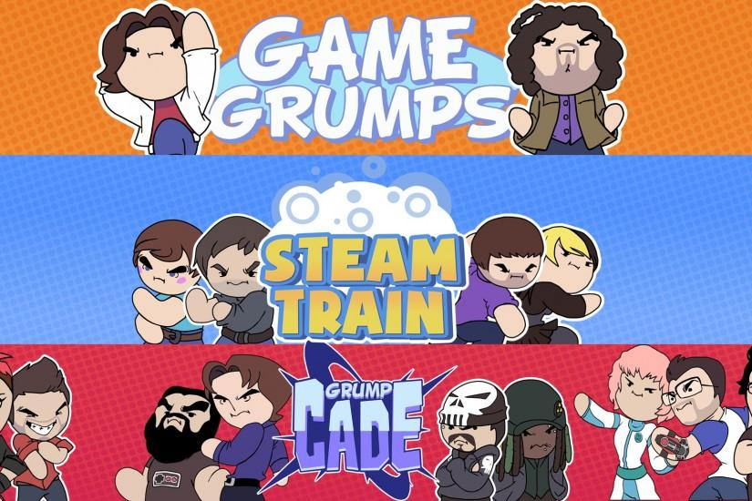... steamtrain/gamegrumps/grumpcade wallpaper! by superluffy123