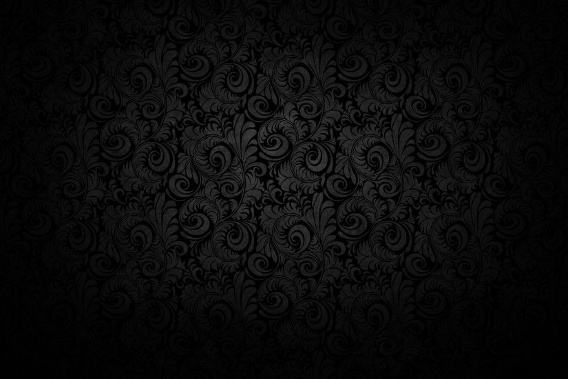 Dark floral scroll background