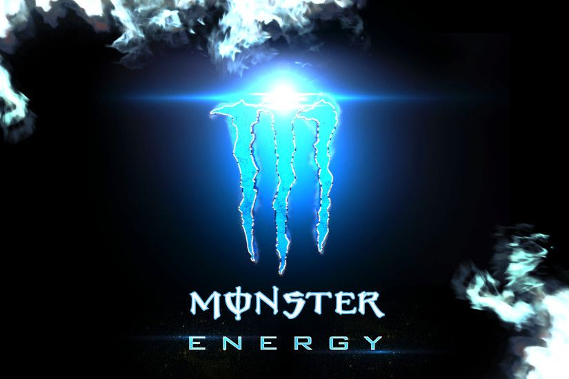 Blue Monster Energy Logo wallpaper