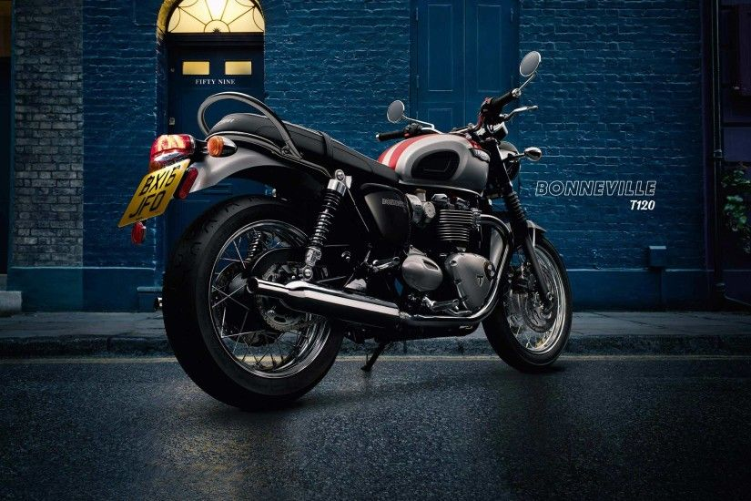 The timeless style and iconic character of the original Bonneville is  reborn in the Bonneville T120. Crafted to the highest standard of  detailing, ...