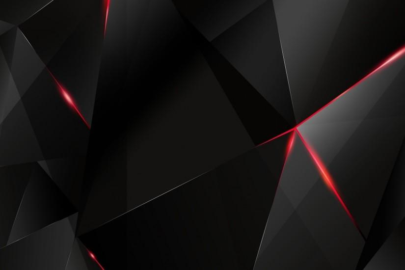Black polygon with red edges abstract hd wallpaper 1920x1080 120 .