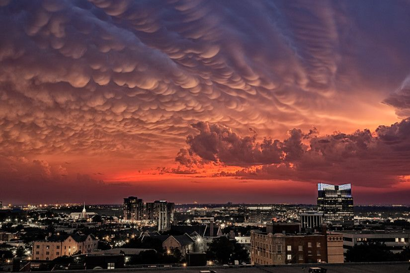 Those are storm clouds above Fort Worth, Texas… after they devastated  Oklahoma.