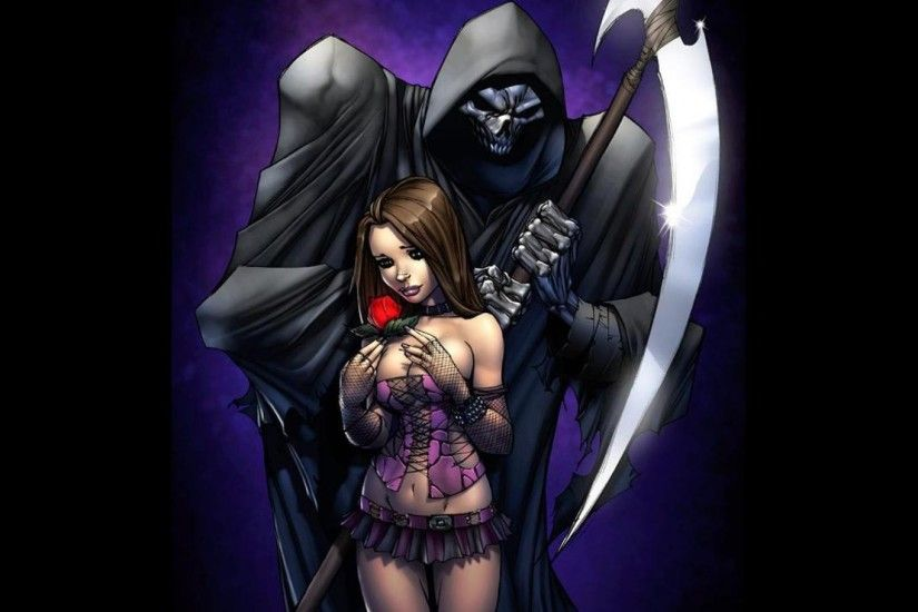 Shop Grimm Fairy Tales A - Grim Reaper and Rose Photographic Print created  by zenescope.