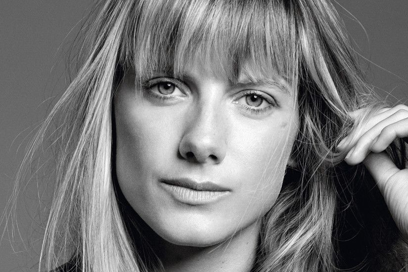 Monochrome Melanie Laurent Face Wallpaper 53773