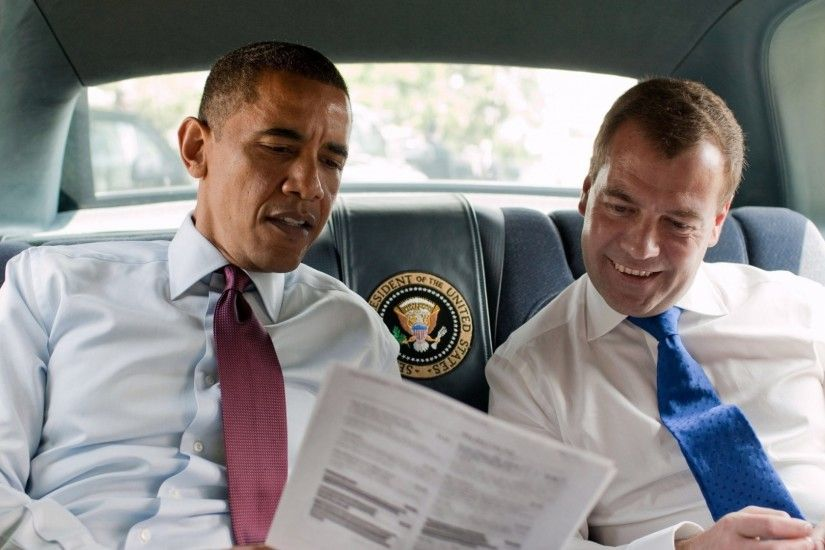 1920x1080 Wallpaper barack obama, dmitry medvedev, president, prime  minister, car