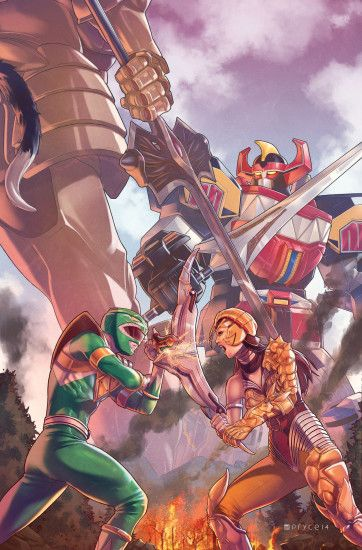 ... Mighty Morphin Power Rangers #2 by Pryce14