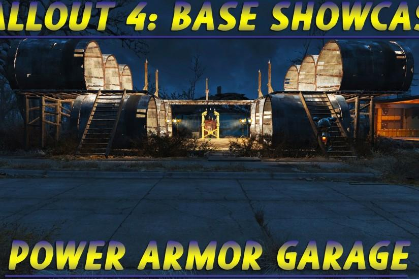 Fallout 4: Base Showcase - Power Armor Garage