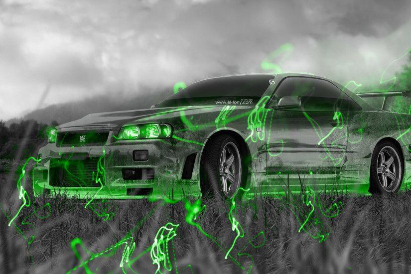 Merveilleux Nissan Skyline GTR R34 JDM Tuning Crystal Nature