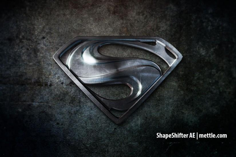 Wallpapers For > Black Superman Logo Wallpaper