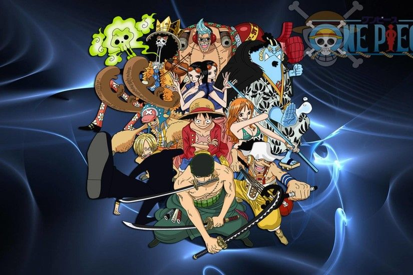 One Piece Luffy And Crew Background For Computer | Cartoons Images