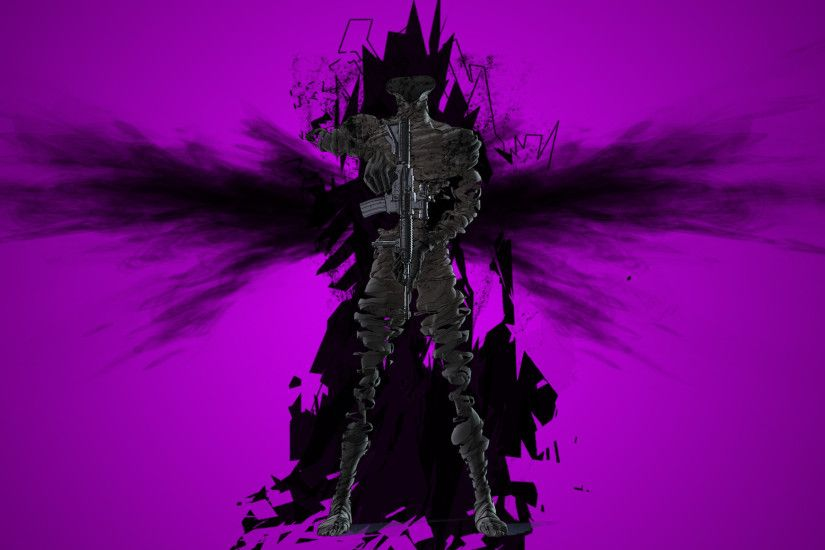 Anime - Ajin: Demi-Human Anime Dark Black Purple Horror Creepy Shadow  Wallpaper