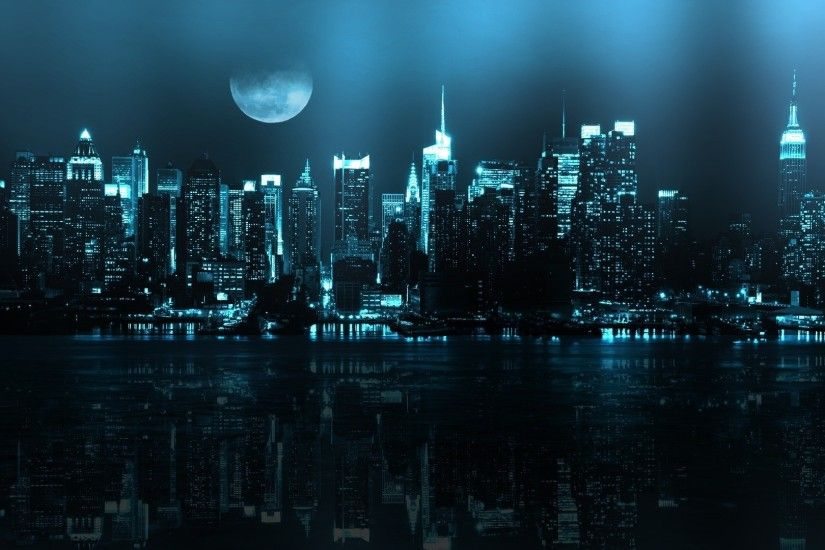 Night City Wallpapers High Resolution For Desktop 1920x1080 px 437.68 KB
