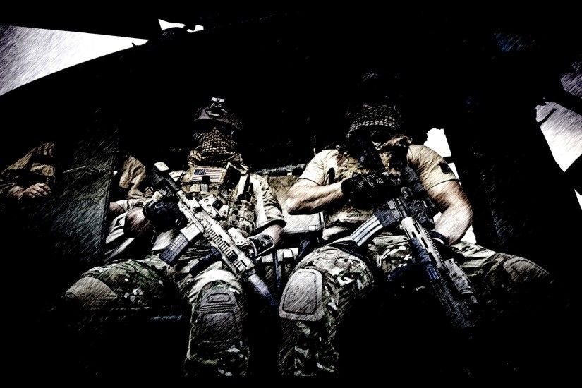 Military - Soldier Special Forces Dark Army Wallpaper