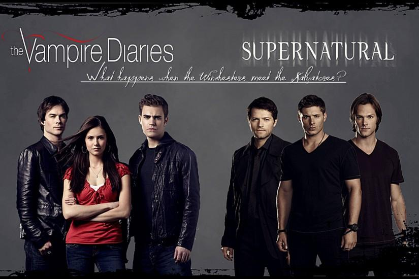 Supernatural Vampire Diaries Wallpaper.