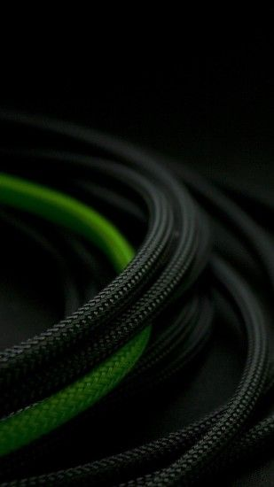 Black and Green Rope iPhone 6 Wallpaper