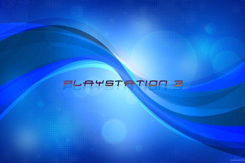 HD Playstation 3 blue logo wallpaper