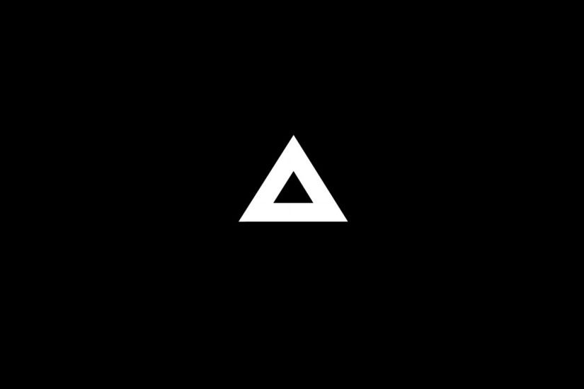 Preview wallpaper triangle, minimalism, black, white 1920x1080