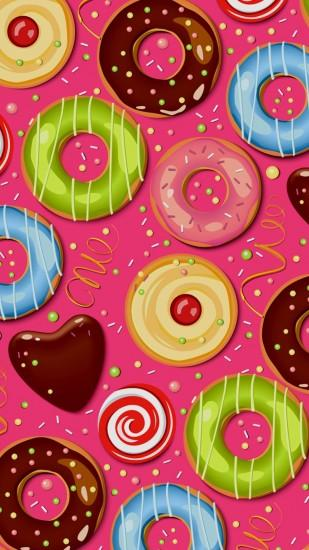 Donut Wallpaper found online 💜🍩