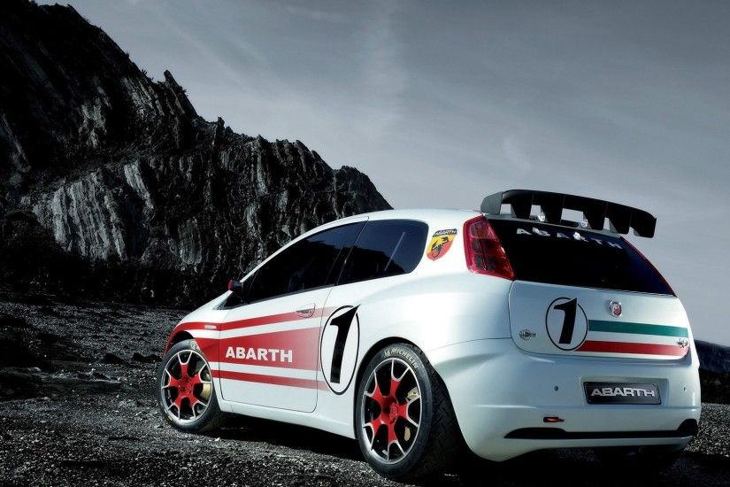 ... background wallpapers Fiat abarth grande punto s 2000 rear angle, 1080  wallpapers ...