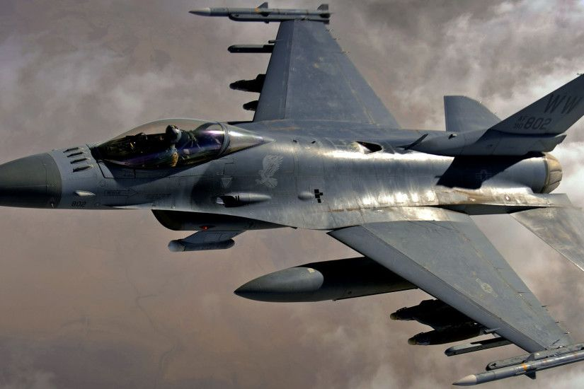 F 16 Fighting Falcon – 1080p HD Wallpaper Widescreen