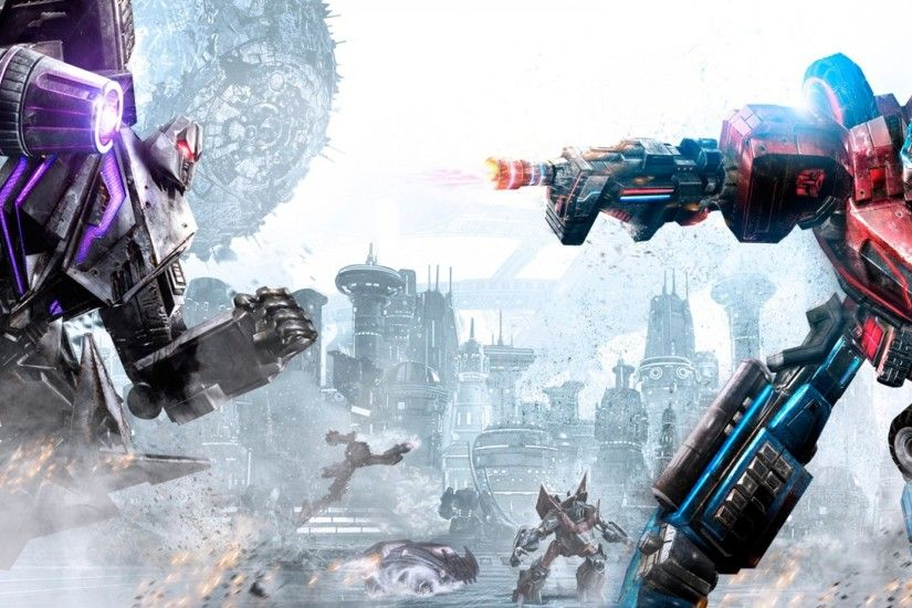 Transformers Fall of Cybertron Megatron VS Optimus Prime Wallpaper