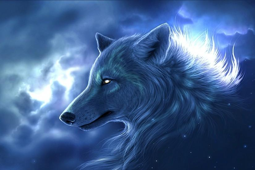 Fantasy Wolf Wallpaper HD