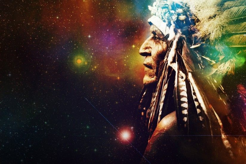 indian feathers space star universe background mysticism