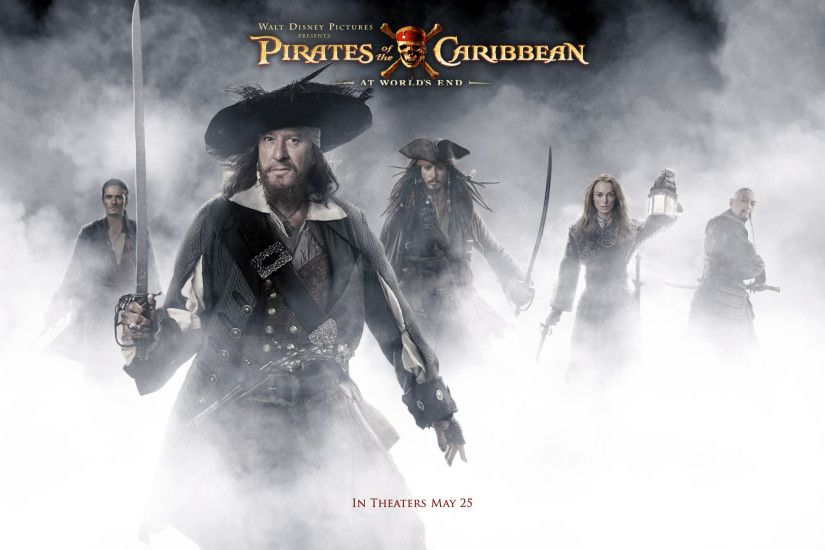 Movie - Pirates Of The Caribbean: At World's End Geoffrey Rush Hector  Barbossa Johnny Depp