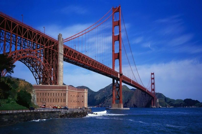 Man Made - Golden Gate Bridge Ocean Wallpaper