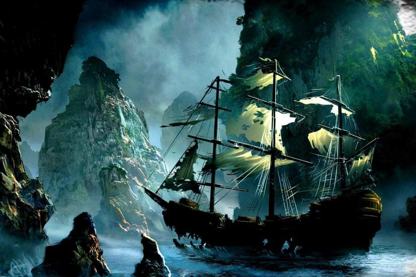 Old Pirate Ship Wallpaper | Queenwallpaper.