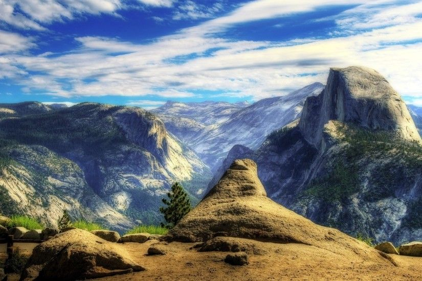 Outlook Tag - Nature Valley Outlook Mountains Yosemite Supreme Sky And  Waterfalls Wallpapers for HD 16