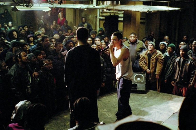 Eminem in 8 Mile which was one of the first time mainstream America got a  glimpse into battle raps.