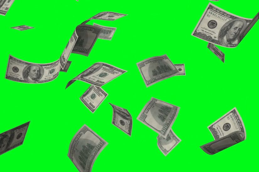 Money rain of dollar bills on the green background Motion Background -  VideoBlocks