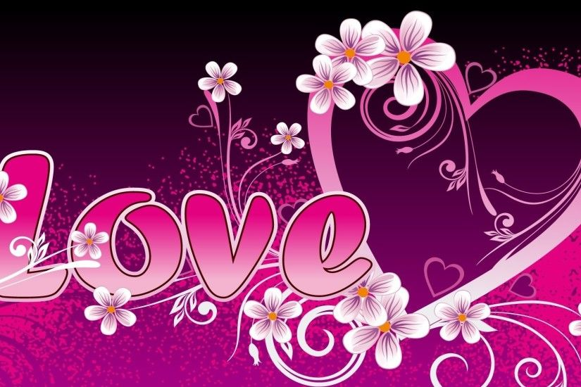 Preview wallpaper love, pink, inscription, recognition 1920x1080