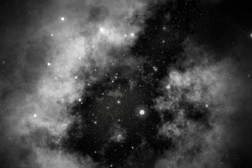 Subscription Library Slow Motion Serene Deep Space Galaxy and Stars  Background Black and White 4K