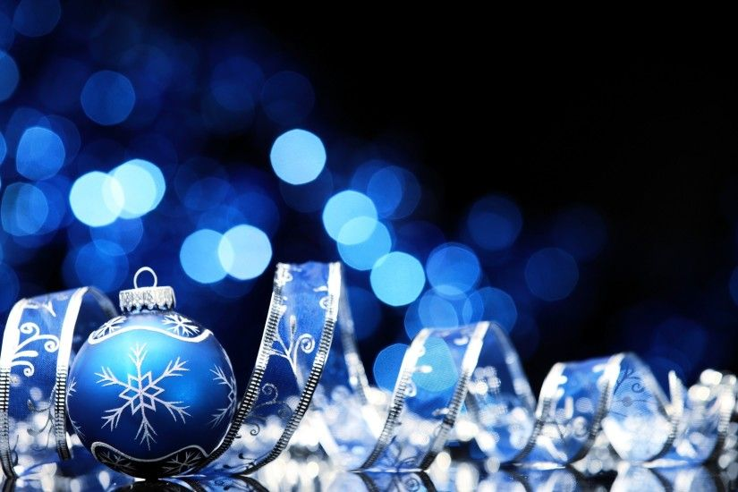 New Year, Christmas Ornaments, Bokeh, Ribbon Wallpapers HD / Desktop and  Mobile Backgrounds