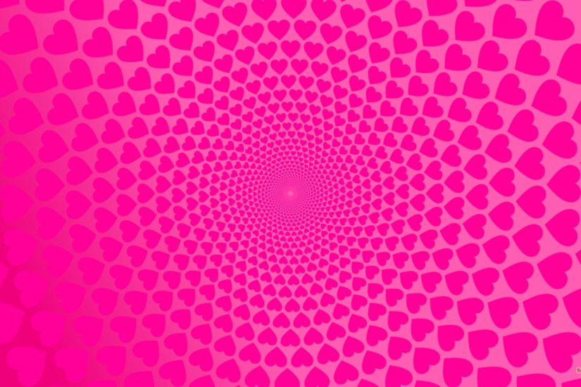 Pink wallpaper with many hearts