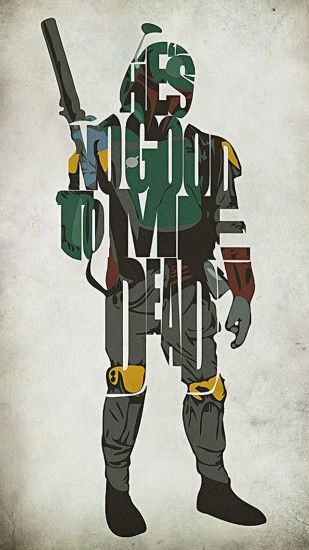Star Wars Inspired Boba Fett Typography Artwork Painting by Ayse T Werner -  Star Wars Inspired Boba Fett Typography Artwork Fine Art Prints and Posters  for ...