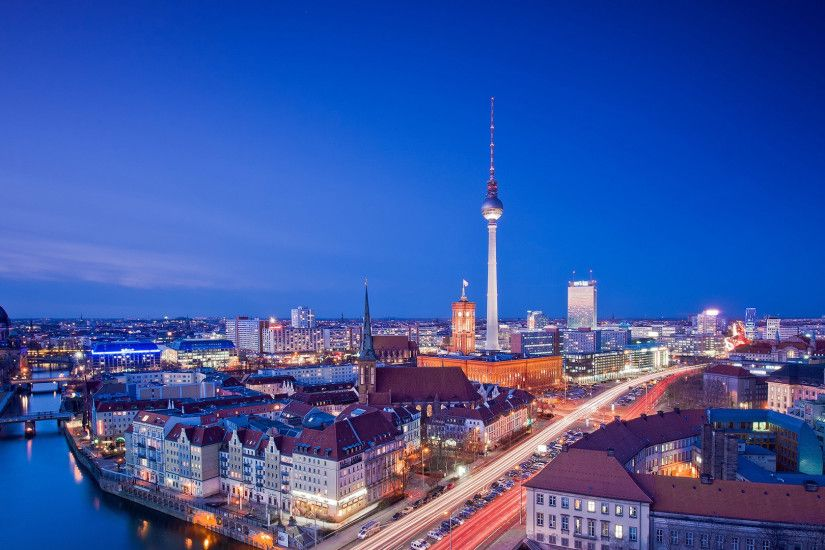 ... Preview wallpaper berlin city roads houses 3840x2160