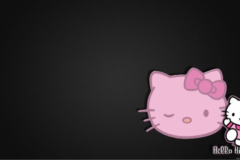 Pink And Black Hello Kitty Backgrounds Wallpaper 1920×1080