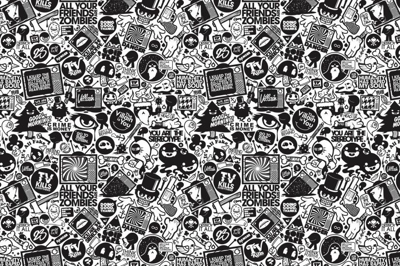 Retro Black and White Wallpaper 3601