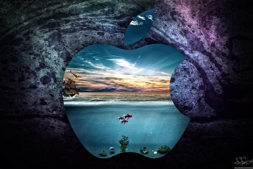 Apple-UnderWater-MacBookPro 13inch Retina display by SSxArt on .