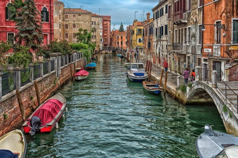 Man Made - Venice Man Made Italy Canal House Boat Colors Colorful Wallpaper