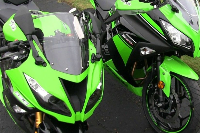 2013 Kawasaki NINJA 300 Special Edition & NINJA 636 ZX6R Side by Side  Physical Comparison