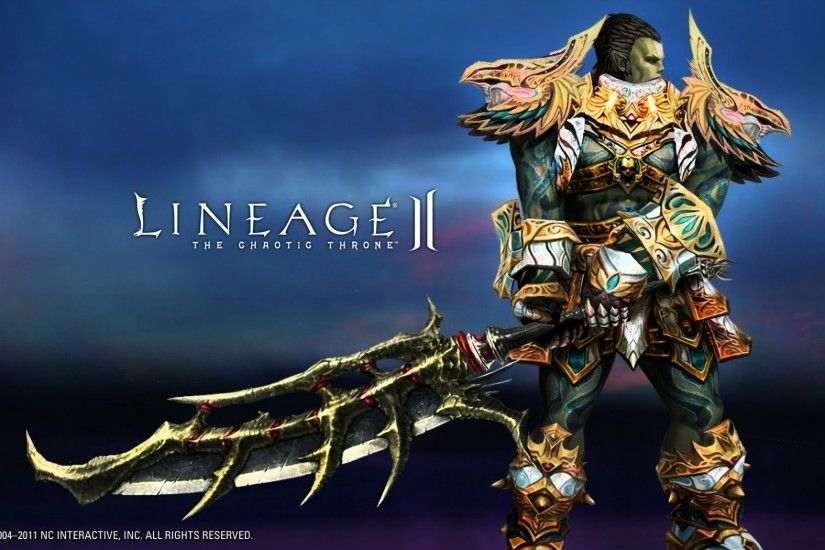 lineage lineage 2 orc 2handed elegia 1600x1000 wallpaper Art HD Wallpaper