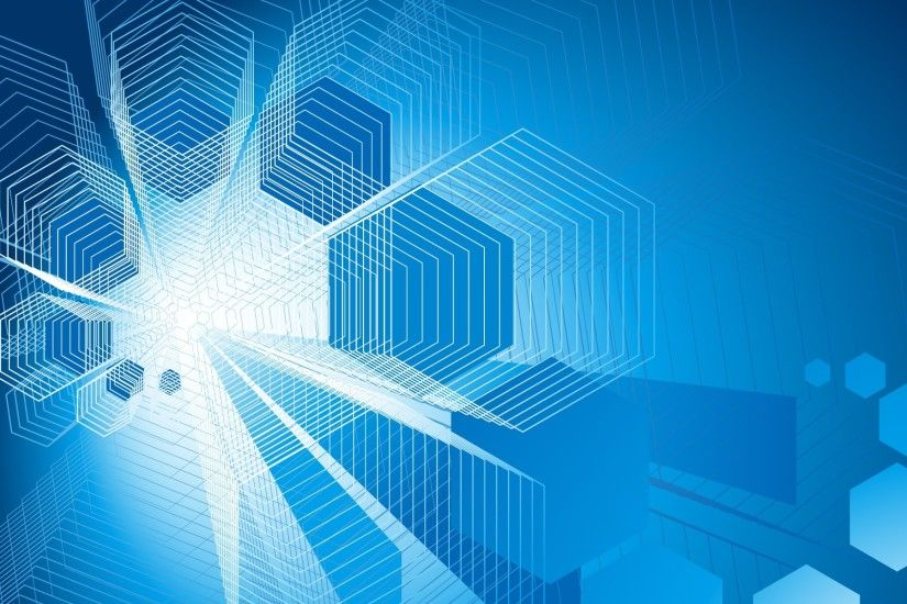 Blue Technology background Vector | Free Download ...
