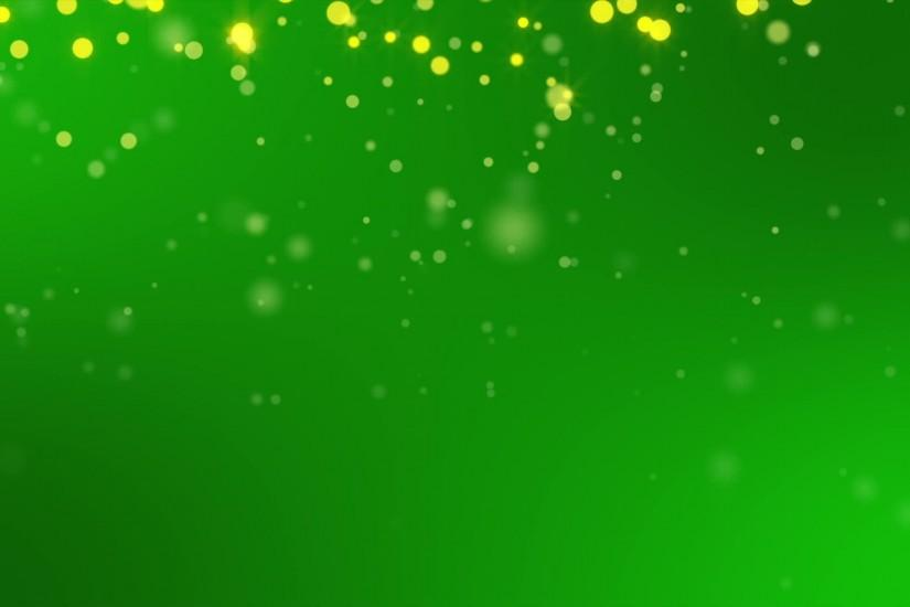 Gold Sparkles on Green Background Loop