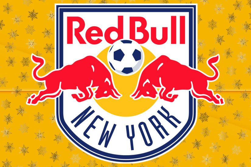 Orange New York Red Bulls football logo wallpaper