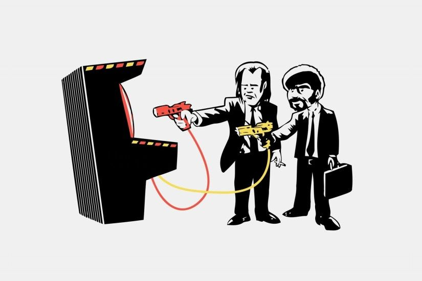 ... pulp fiction arcade style wallpaper ...